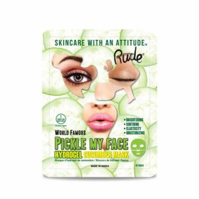 (3 Pack) RUDE Pickle My Face Hydrogel Cucumber Mask