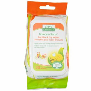 Aleva Naturals, Bamboo Baby Wipes, Pacifier & Toy, 30 Wipes(pack of 6)