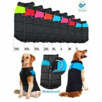 Deago Large Dog Coat Waterproof Winter Warm Dog Clothes Cat Coat Jacket Vest Apparels