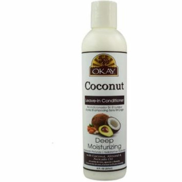 6 Pack - Okay Coconut Deep Moisturizing Leave in Conditioner 8 oz