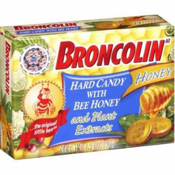 3 Pack - Broncolin Herbal Hard Candy, Honey & Peppermint 1.4 oz