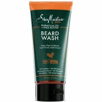 4 Pack - Shea Moisture Men Maracuja Oil & Shea Butter Beard Wash 6 oz