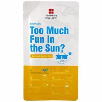 Leaders, Too Much Fun in the Sun?, Soothing & Calming Mask, 1 Mask, 0.84 fl oz (pack of 12)
