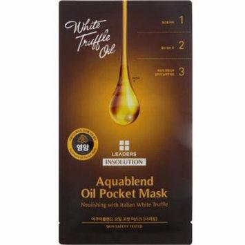 Leaders, Insolution, Aquablend Oil Pocket Mask, Nourishing, 1 Mask, 27 ml(pack of 12)