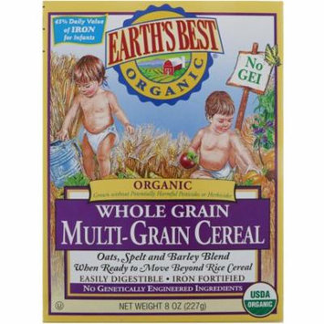 Earth's Best, Organic Whole Grain Multi-Grain Cereal, 8 oz (pack of 4)