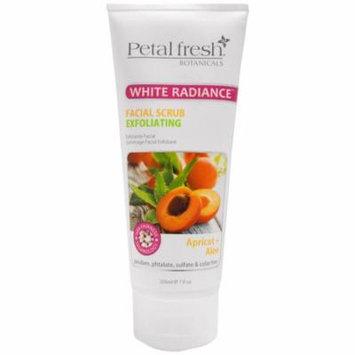 Petal Fresh, Botanicals, White Radiance Facial Scrub Exfoliating, Apricot & Aloe, 7 fl oz(pack of 1)