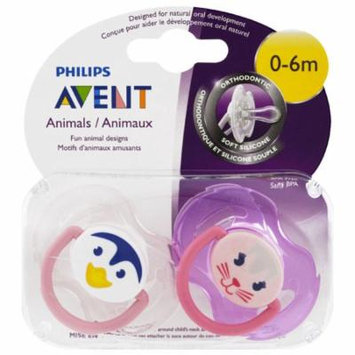 Philips Avent, Orthodontic, Soft Silicone Pacifier, 0-6 Months, 2 Pack(pack of 1)