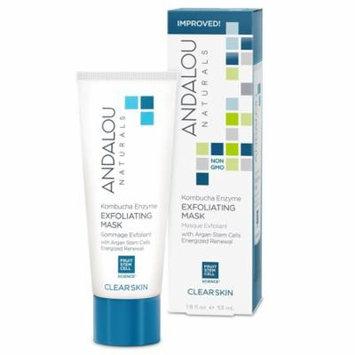Andalou Naturals, Exfoliating Mask, Kombucha Enzyme, Clear Skin, 1.8 fl oz(pack of 3)