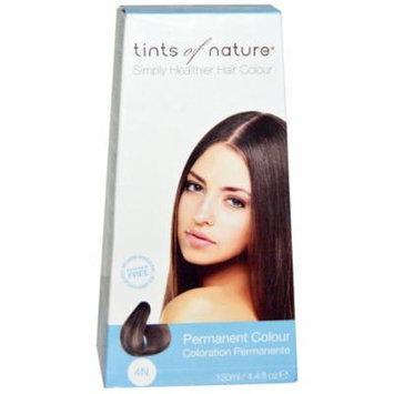 Tints of Nature, Permanent Color, Natural Medium Brown, 4N, 4.4 fl oz (pack of 6)