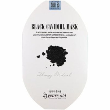 23 Years Old, Black Cavidiol Mask, 1 Sheet(pack of 12)