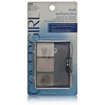 3 Pack - CoverGirl Eye Enhancers 3 Kit Eye Shadow, Cafe Au Lait [105], 0.17 oz