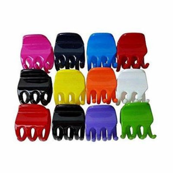 Extra Strong Jaw Clips - 12 Vivid Jaw Hair Clips - Hair Accessories - Hair Clip by CoverYourHair