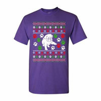 Dog Puppy Paws Lover Pet Ugly Christmas Gift Funny DT Adult T-Shirt Tee