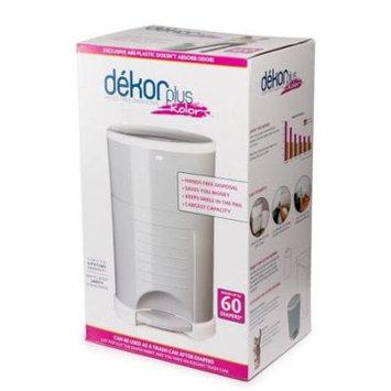 Dekor Plus Hands-Free Diaper Pail, Gray