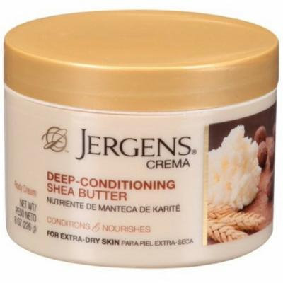 6 Pack - Jergens Crema Deep Conditioning Shea Butter Body Cream with Oatmeal 8 oz