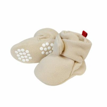 Wrapables® Fleece Baby Booties with Anti-Skid Bottoms, Beige, 6-12 M