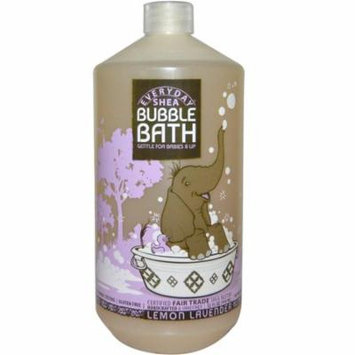 Everyday Shea, Bubble Bath, Gentle For Babies And Up, Lemon Lavender, 32 fl oz(pack of 4)
