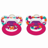 NUK, Confetti, Orthodontic Pacifier, 6-18 Months, Butterflies, 2 Pack(pack of 4)