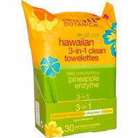 Alba Botanica, Natural Hawaiian 3-in-1 Clean Towelettes, Pineapple Enzyme, 30 Wet Towelettes(pack of 3)