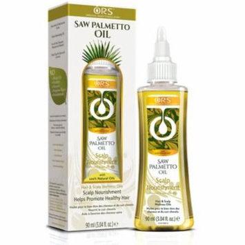 3 Pack - ORS Saw Palmetto Oil Scalp Nourishment Hair & Scalp Wellness Oil 3.04 oz