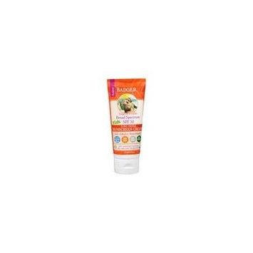 Badger Broad Spectrum SPF 30 Kids Zinc Oxide Sunscreen Cream Tangerine Vanilla 2.9 fl oz (pack of 1)