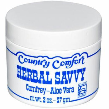 Country Comfort, Herbal Savvy, Comfrey- Aloe Vera, 2 oz(pack of 12)