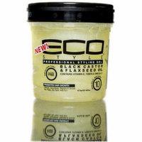 3 Pack - ECO Styler Black Castor & Flaxseed Oil Gel 8 oz