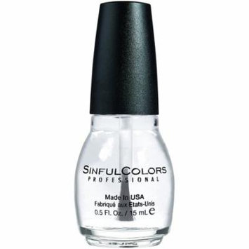 2 Pack - Sinful Colors Professional Nail Polish, Clear Coat 0.50 oz