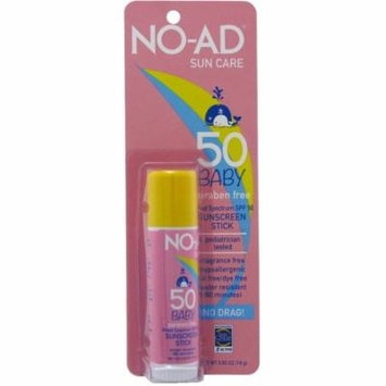 2 Pack - NO-AD Sun Care Baby Sunscreen Stick SPF 50 0.65 oz
