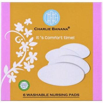 Charlie Banana, Washable Nursing Pads, 6 Pads(pack of 2)