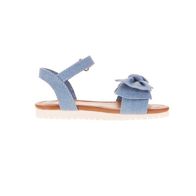 Toddler Girls' Chambray Knot Sandal