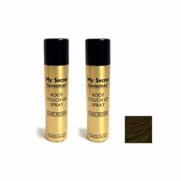 My Secret Correctives Root Touch-Up Spray DARK BROWN 2 oz - Two Pack