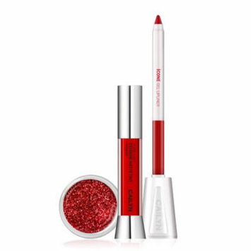 Caitlin Cosmetics - Matte To Glitter Lip Trio - Power Red
