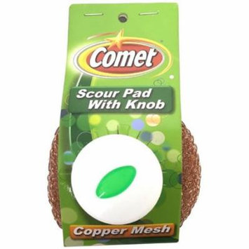 4 Pack - Comet Scour Pad With Knob, Copper Mesh 1 ea