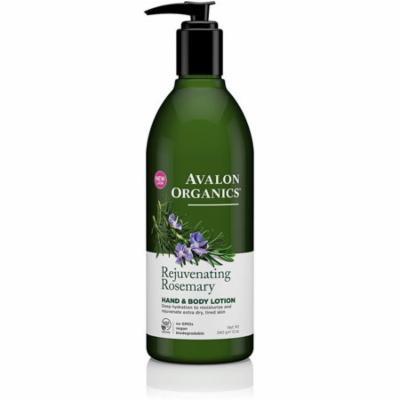 4 Pack - Avalon Organics Hand & Body Lotion, Rejuvenating Rosemary 12 oz