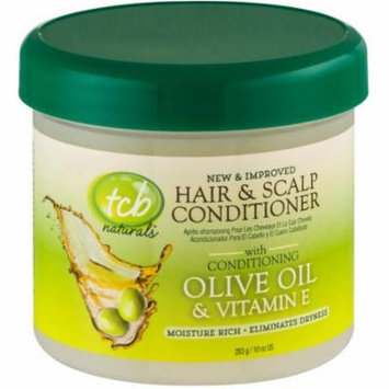 3 Pack - TCB Naturals Hair & Scalp Conditioner With Olive Oil & Vitamin E 10 oz