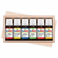 Plant Therapy KidSafe Organic Synergy Essential Oil Set 10 mL (1/3 oz) 100% Pure, Undiluted, Therapeutic Grade