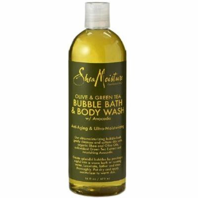 3 Pack - Shea Moisture Olive & Green Tea Bubble Bath & Body Wash 16 oz