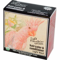 Light Mountain, Organic Natural Hair Color & Conditioner, Light Red, 4 oz (pack of 12)