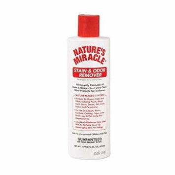MIRACLE STAIN & ODOR REMOVER Liquid Enzymes Eliminate Most Stains Odors & Smoke(16 oz)