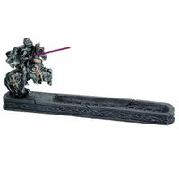 Knight of Chivalry Stick Incense Holder Jousting Knight Incense Burner Medieval Times Collectible 11.25 Inches L