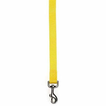 Brite Color Nylon Leads for Dogs Choose From 11 Colors 3 Sizes Dog Leash Lead (Medium - Yellow)