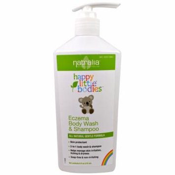 Natralia, Happy Little Bodies, Eczema Body Wash & Shampoo, 6 fl oz(pack of 12)