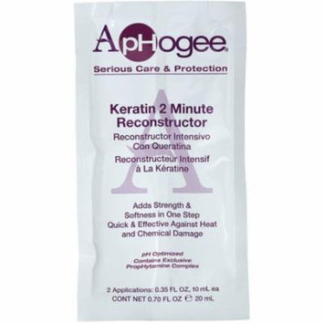 2 Pack - Aphogee Keratin 2 Minute Reconstructor 1 ea