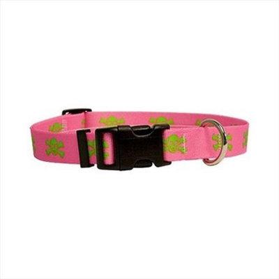 Yellow Dog Design Pink/Green Skulls Standard Collar