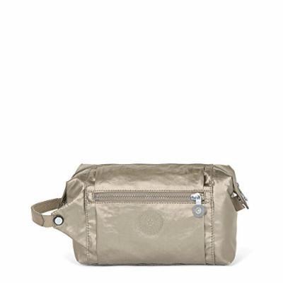 Kipling Aiden Toiletry Bag, Essential Travel Accessory, Metallic Pewter