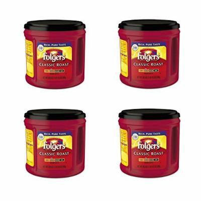 Folgers Classic Roast Ground Coffee, Medium Roast, 30.5 Ounce (4 pack)