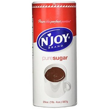 N'Joy Sugar Canisters, 20 Ounce, (Pack of 12)