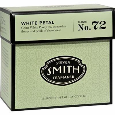 Smith Teamaker White Tea - White Petal - Case of 6 - 15 Bags - Gluten Free - Dairy Free - Yeast Free - Wheat Free - Vegan