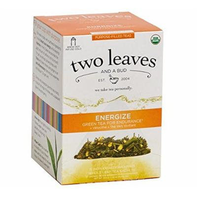 TWO LEAVES & A BUD, TEA, OG2, GREEN TEA, ENERGIZ - Pack of 6
